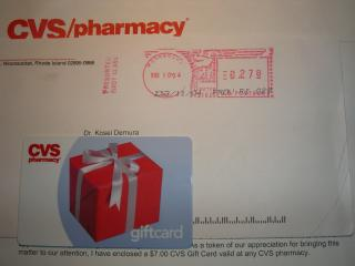 A letter from the CVS