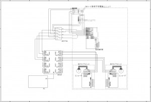 JWアクティブ改造の回路図 by 山澤君 (クリックすると拡大します)