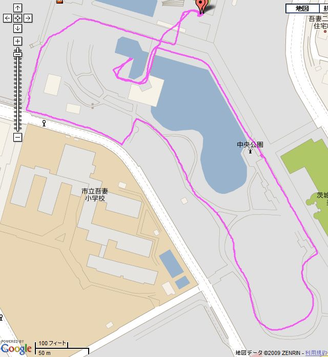 GPSの軌跡
