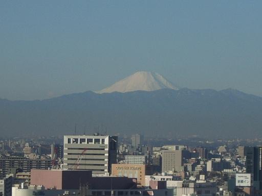 ホテルから見た富士山