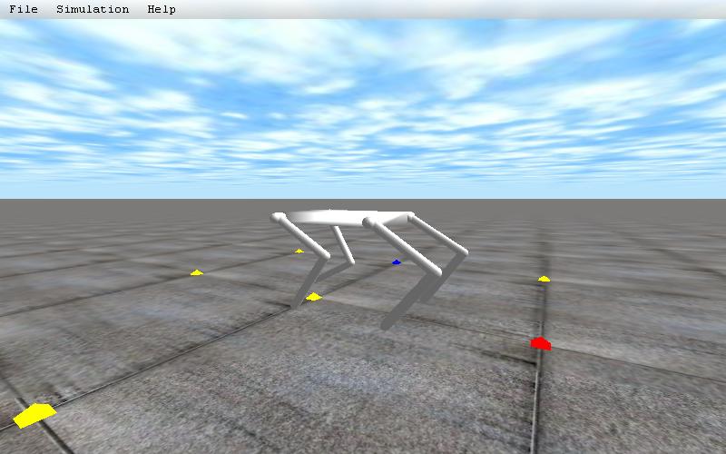 4脚ロボットのデモプログラム