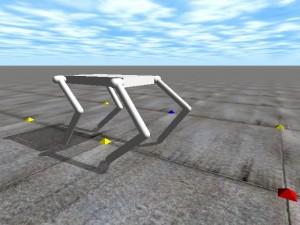 Open Dyanamics Engine: A 4 Legged Robot