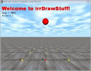 irrDrawstuffのスクリーンショット.