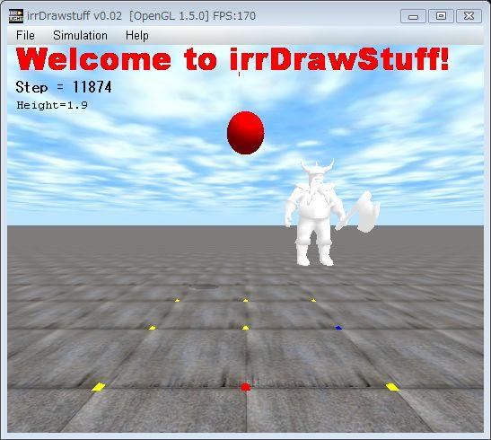 irrDrawStuff-0.02のスクリーンショット.メニューバーが装備&高速化された.