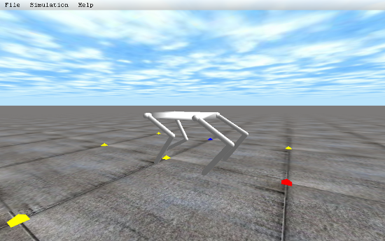legged: 4脚ロボットのデモプログラム